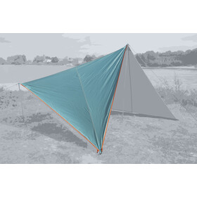 Bent Canvas Plain Tarp Pojedynczy, ocean wave/zipper orange